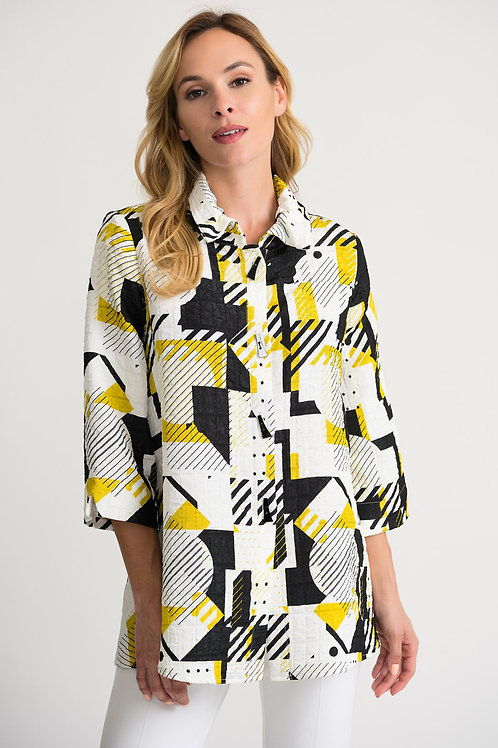 Joseph Ribkoff Black/Vanilla Vest #202104