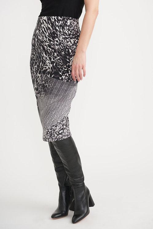 Joseph Ribkoff Black/Vanilla Skirt Style 203649