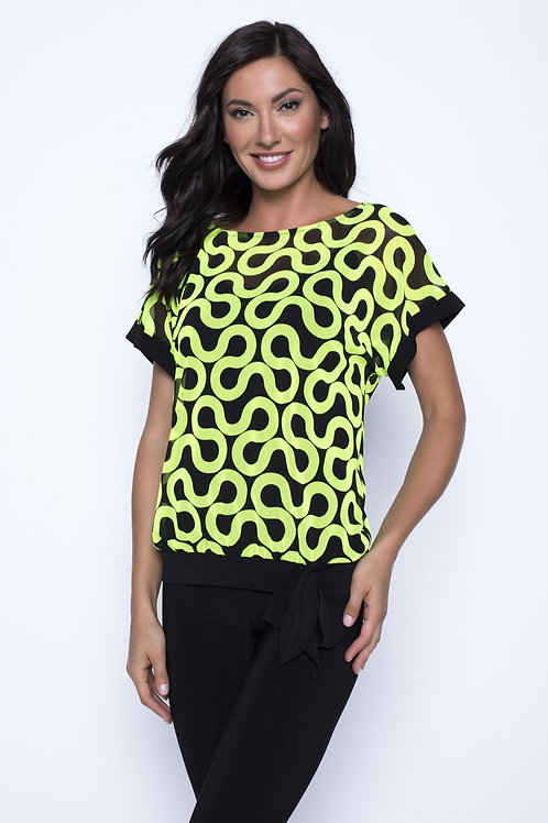 Frank Lyman Lime/Black Top #201278