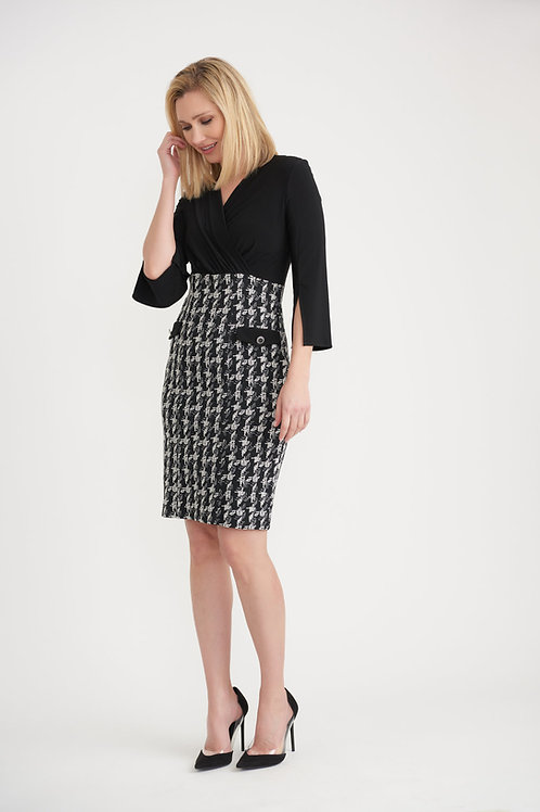 Joseph Ribkoff Black/Off White Dress Style 203243