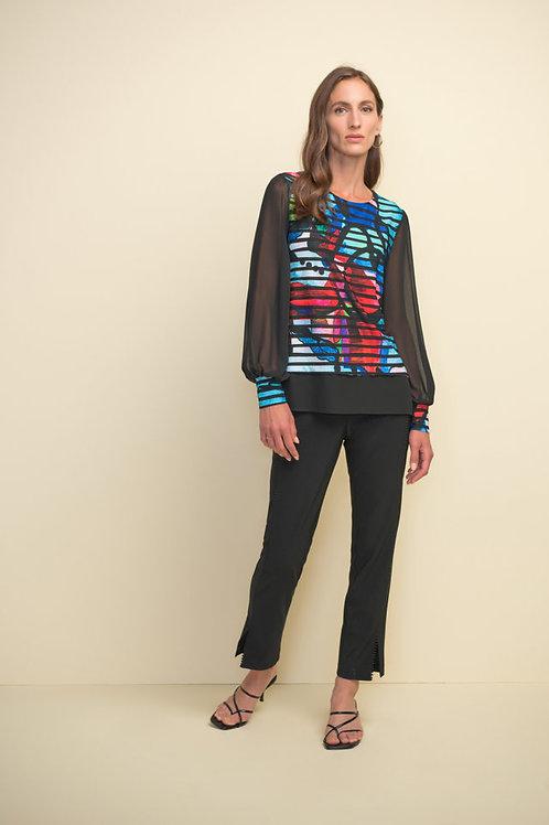 Joseph Ribkoff Black/Multi Top Style 211100