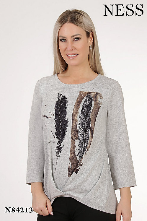 Ness Grey Sweater Style 84213