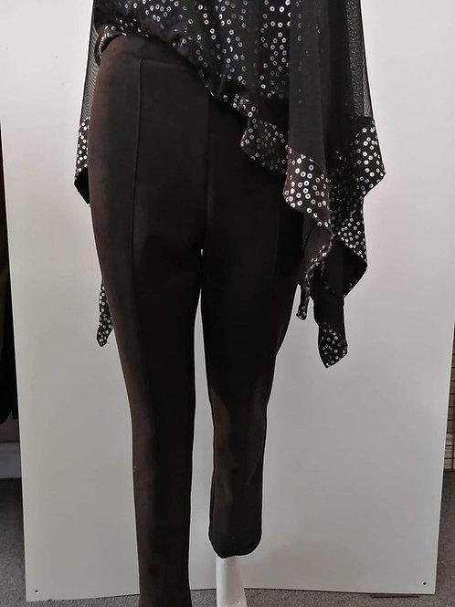Artex Black Faux Suede Pants Style P-9208