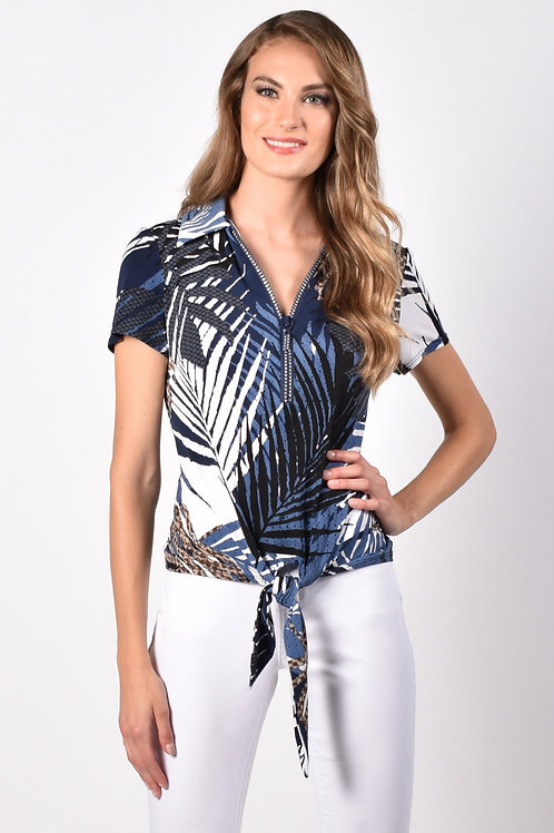 Frank Lyman Navy/Taupe Top Style 216405