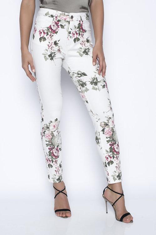 Pantalon Denim Blanc/Rose Frank Lyman #196100u