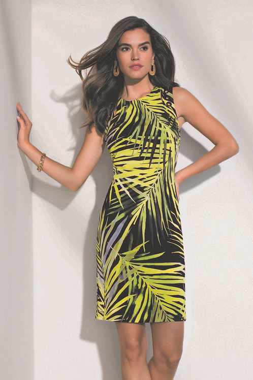 Frank Lyman Black/Lime Printed Dress  #196203