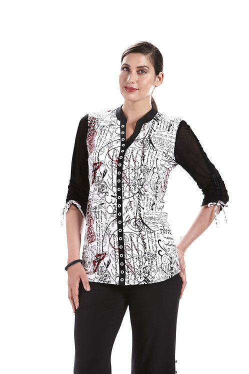Crystal Black/White/Red Tunic #6527-1