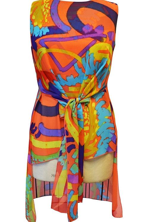Art Orange/Multi Tunic Style 517557