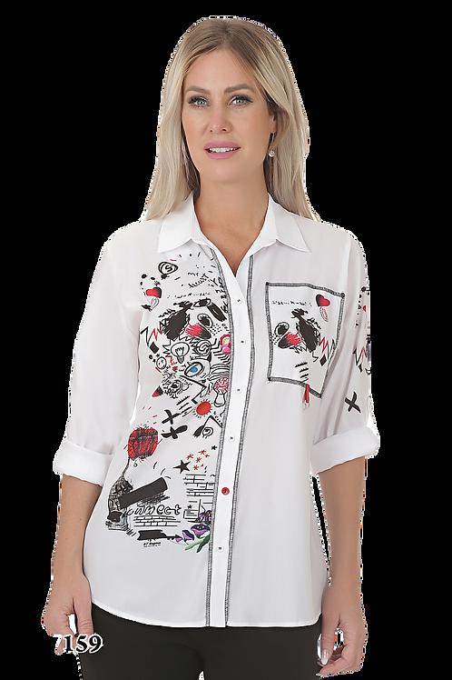 Ness White/Multi Blouse Style N87159