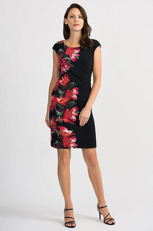 Joseph Ribkoff Black Floral Dress #201001