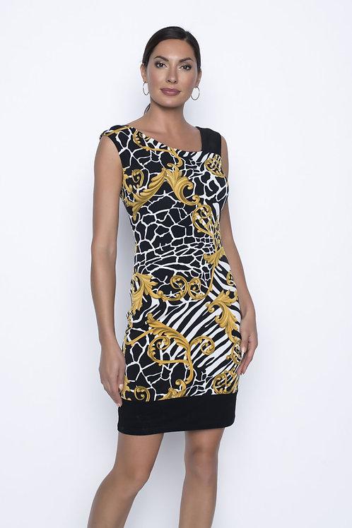 Frank Lyman Black/White/Mustard Dress #196445