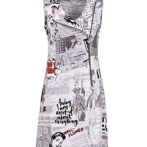 Dolcezza White/Gray/Red Dress #20166