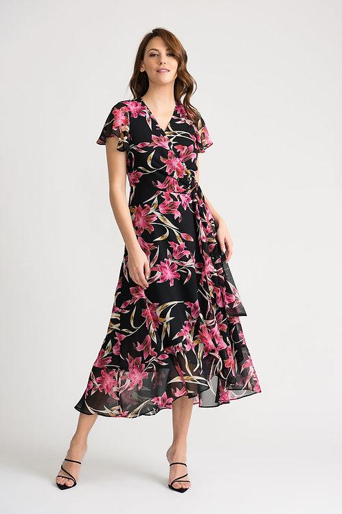 Joseph Ribkoff Black/Multi Dress #202429