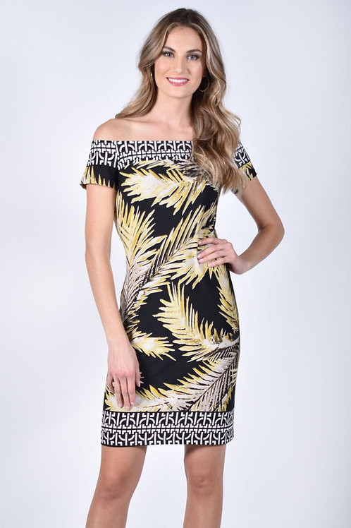 Frank Lyman Black/Yellow Dress Style 211204