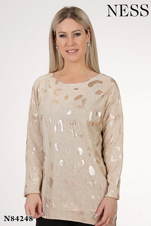 Ness Beige/Gold Sweater Style 84248