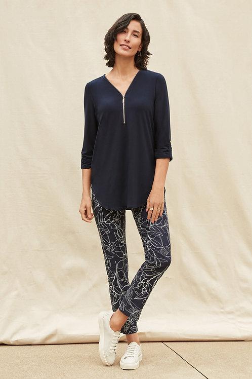 J Ribkoff Dark Navy/Vanilla Pants Style 211385