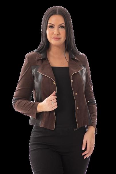 Bali Brown/Black Suede Jacket Style 7345