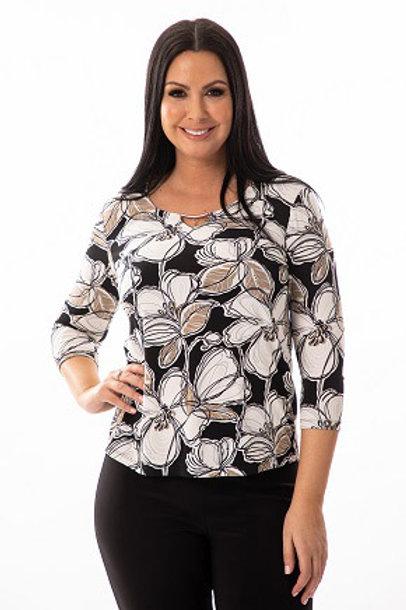 Bali Black/Off White/Beige Top Style 7350