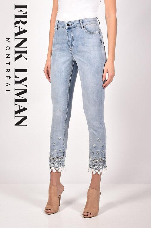 Frank Lyman Light Blue/White Jeans Style 211105U