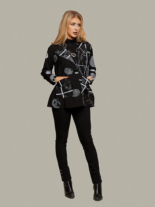 Minkas Black/Grey Light Jacket Style RN316