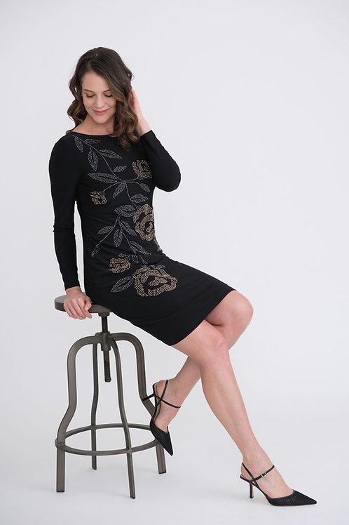 Ribkoff Black/Gold/Pewter Dress Style 204310