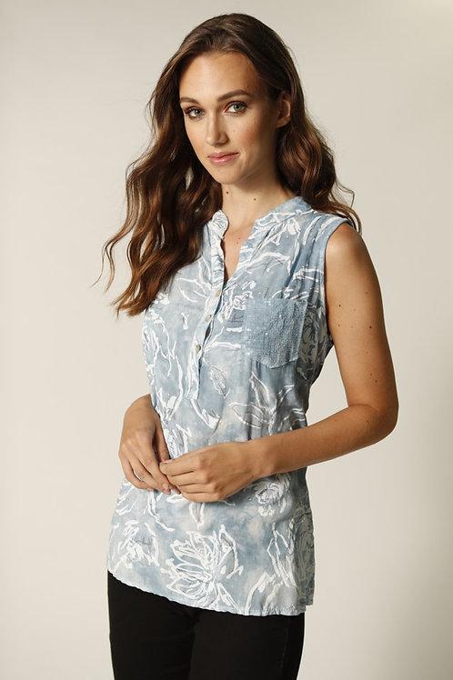 Femme Fatale Blue/White Blouse Style 2162