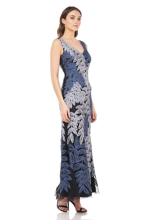 JS Blue Slate Long Dress #866542