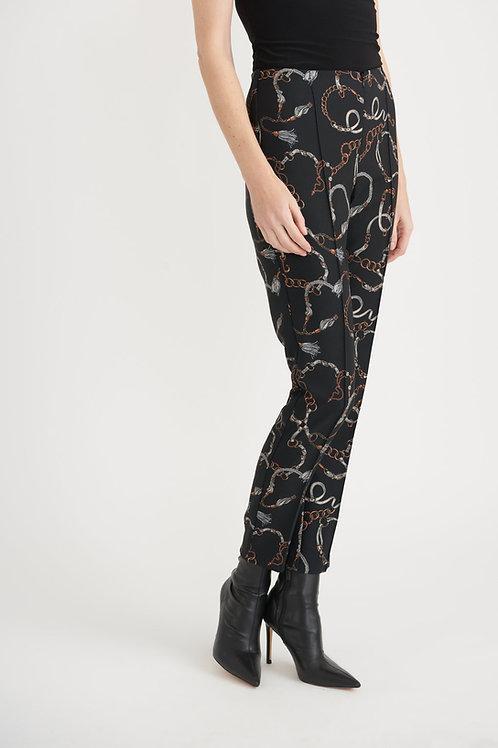 Joseph Ribkoff Black/Multi Pants Style 203380