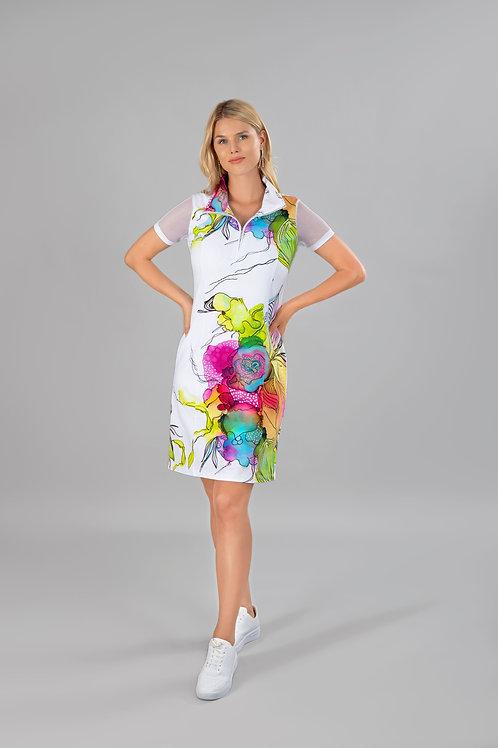 Dolcezza White/Multi Dress Style 21725