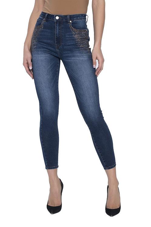 Frank Lyman Dark Blue/Topaz Jeans Style 203181U