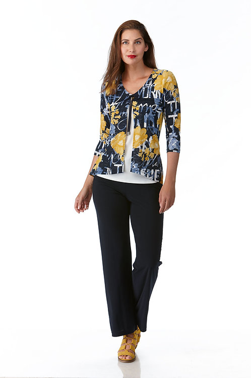 Crystal Navy/White/Yellow Top Style 10647