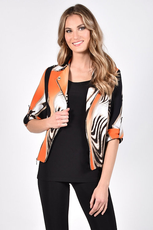 Frank Lyman Orange/Black Vest Style 211302