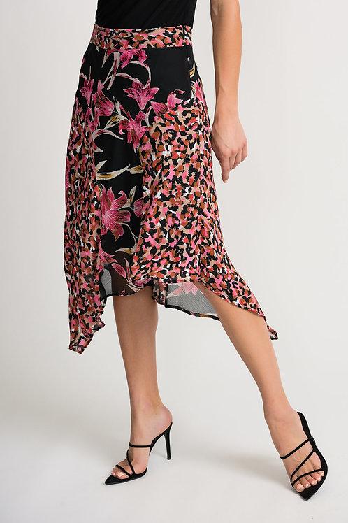 Joseph Ribkoff Black/Multi Skirt #202174