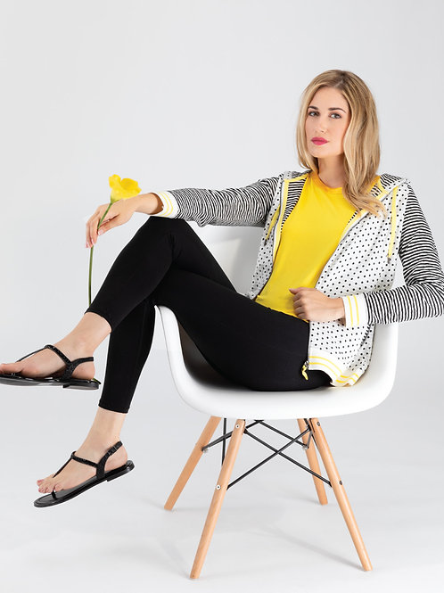 Orly White/Black/Yellow Sport Vest  #94402