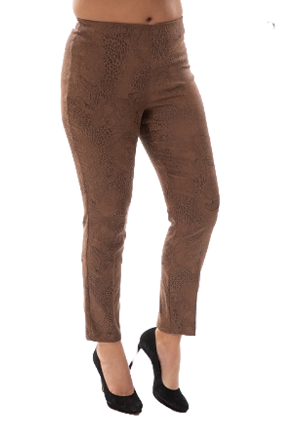 Bali Brown Faux Suede Pants Style 7369
