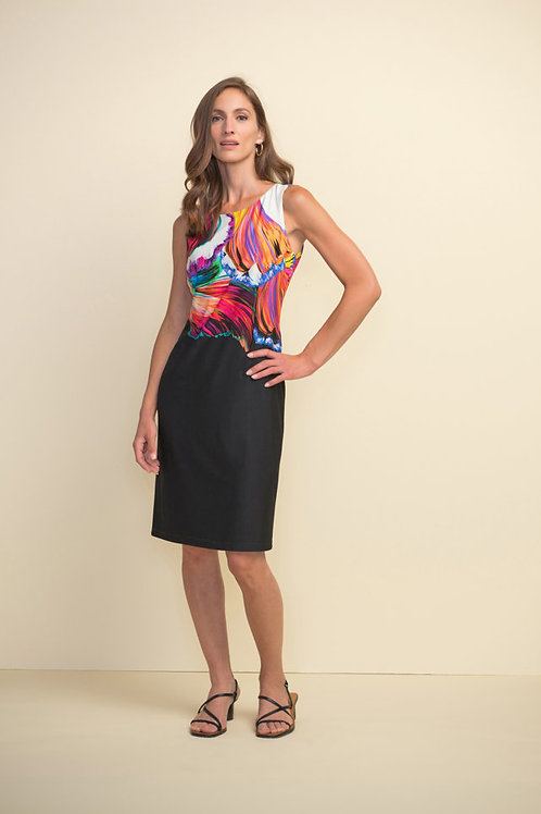Joseph Ribkoff Black/Multi Dress Style 211346