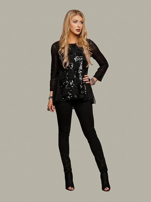 Minkas Black Light Sweater Style DR407