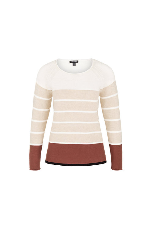 Tribal Raffia Stripe Sweater Style 39590
