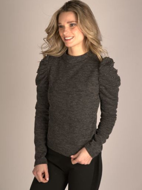 Femme Fatale Charcoal Sweater F20-68T