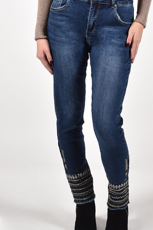Frank Lyman Dark Blue Jeans Style 213121U