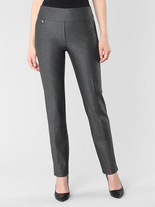 Lisette L Charcoal Wellington Twill Slim Pant Style 73305