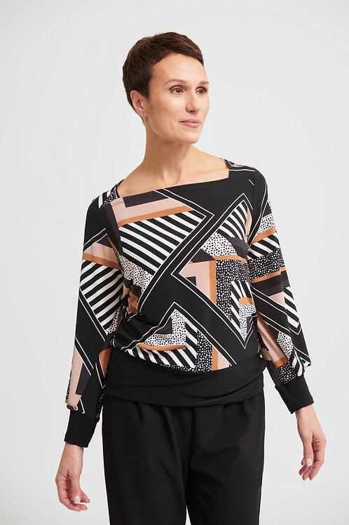 Joseph Ribkoff Black/Multi Top Style 213596