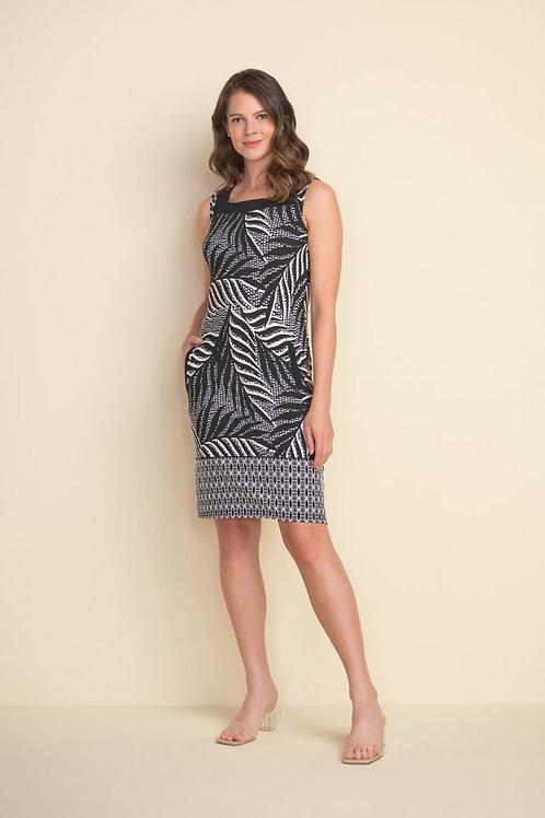 Joseph Ribkoff Black/Vanilla Dress Style 212187