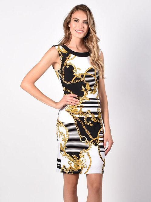 Frank Lyman Black/Gold Dress Style 216432