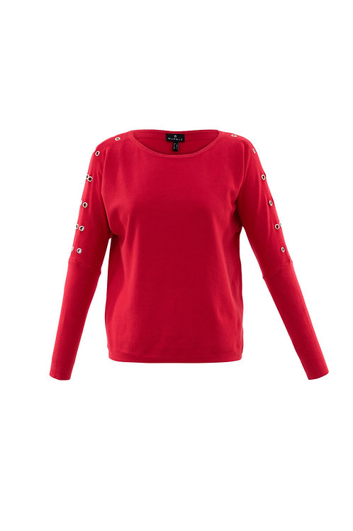 Marble Red Sweater Style 5811