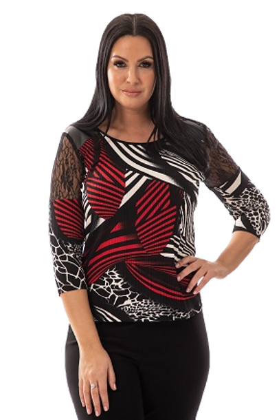 Bali Black/Red Top Style 7398
