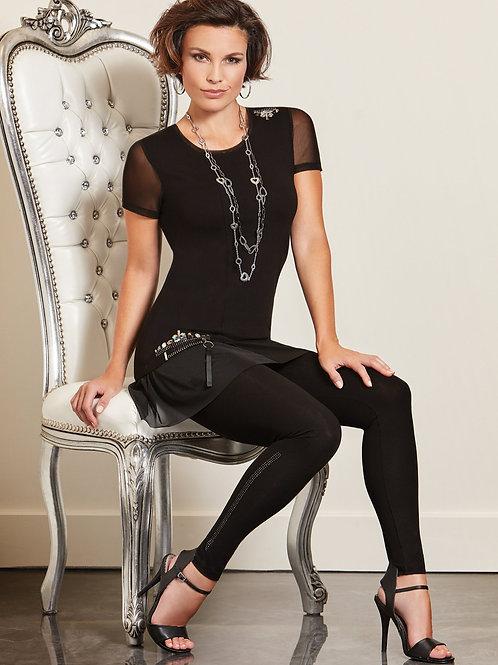 Tricotto Black/Mesh Tunic Style 487
