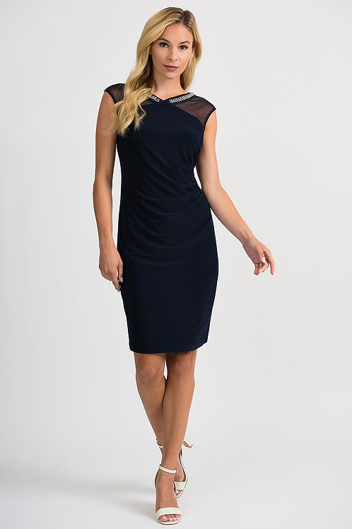Joseph Ribkoff Midnight Blue Dress #201004