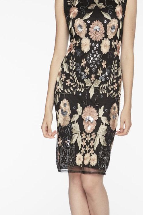 Frank Lyman Black/Blush Dress Style 198108U
