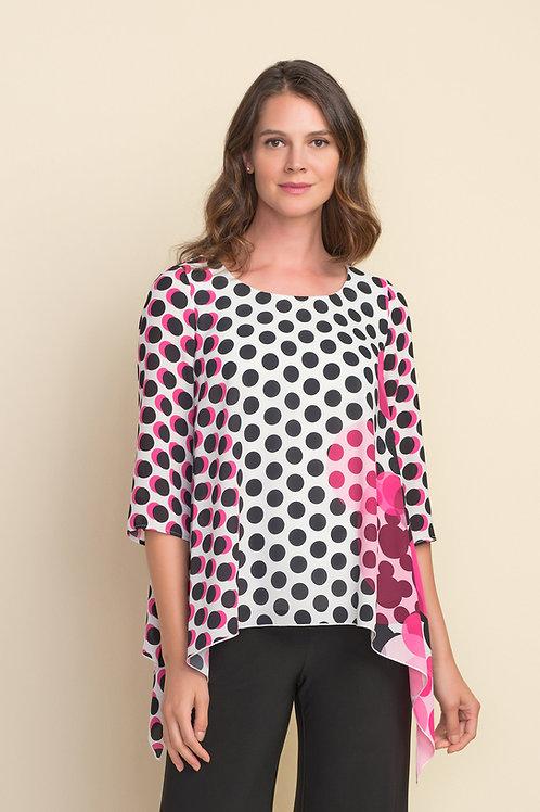 Joseph Ribkoff Black/White/Pink Top Style 212087